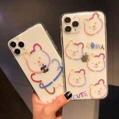Huella - Bear Phone Case For iPhone SE / 6 / 6S / 6 Plus / 6S Plus / 7 / 7 Plus / 8 / 8 Plus / X / XS / XR / XS Max / 11 / 11 Pro / 11 Pro Max