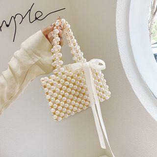BAGSHOW - Mini Faux Pearl Hand Bag