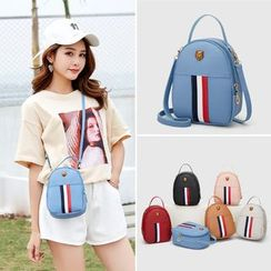 AGLORE - Contrast Stripe Crossbody Handbag