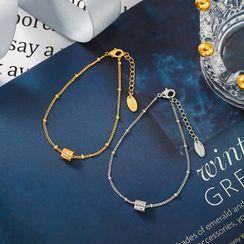 Diplet(ディプレット) - Rhinestone Bracelet