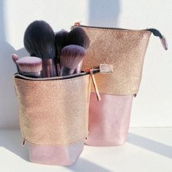 Rhea - Travel Stand Up Makeup Brush Pouch