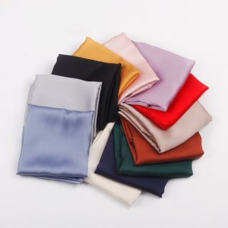 Soiea - 纯色色丁围巾