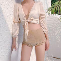 Seabird - Set: Velvet Bikini + Long-Sleeve Cover Up