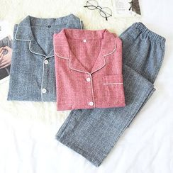 Somnus - Couple Matching Long-Sleeve Pajama Set