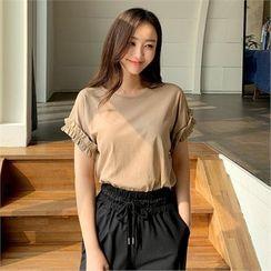 Styleberry - Frilled-Sleeve T-Shirt