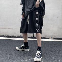 Banash - Butterfly Print Shorts