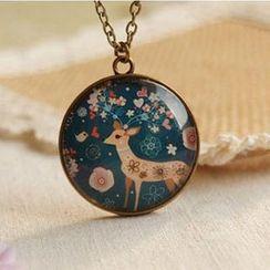 Nisen - Deer Pendant Necklace