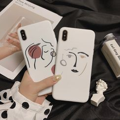 kloudkase - Face Print Phone Case - iPhone 12 Pro Max / 12 Pro / 12 / 12 mini / 11 Pro Max / 11 Pro / 11 / SE / XS Max / XS / XR / X / SE 2 / 8 / 8 Plus / 7 / 7 Plus