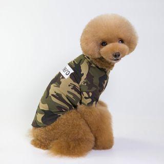 Fabcast - Lettering Camouflage Pet Top