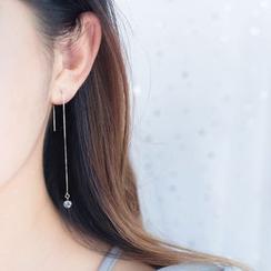 A'ROCH - 925 Sterling Sliver Rhinestone Threader Earrings