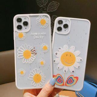 NISI - Floral Print Transparent Phone Case - iPhone 12 / iPhone 11 Pro Max / 11 Pro / 11 / SE / XS Max / XS / XR / X / SE 2 / 8 / 8 Plus / 7 / 7 Plus