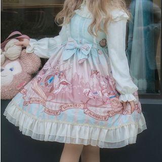 Tomoyo - Sleeveless A-Line Printed Dress