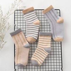 Knit a Bit - Kids Set of 4: Short Socks (Various Designs)