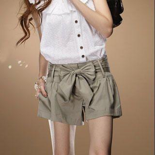 Tokyo Fashion - Cotton Shorts with Sash