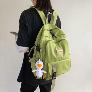 Kaffee - Buckled Laptop Backpack