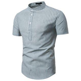 Cowofox - Short-Sleeve Striped Shirt