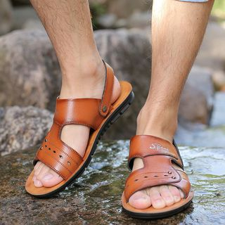 Taragan - Burnished Genuine Leather Sandals