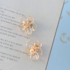 Calypso - 透明花朵耳環