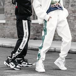 Besto - Couple Matching Lettering Jogger Pants