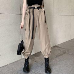Robynn - 细肩带上衣 / 短袖衬衫 / 高腰工装短裤