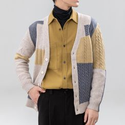 Orizzon(オリッゾン) - Patchwork Cardigan