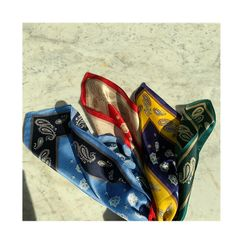 NANING9 - Paisley Silk Square Scarf
