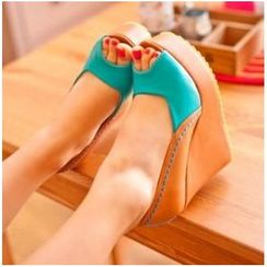 Freesia(フリージア) - Color Block Wedge Sandals