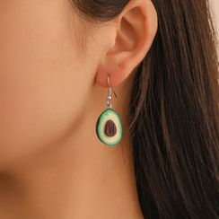B.muse - Asymmetrical Avocado Drop Earring