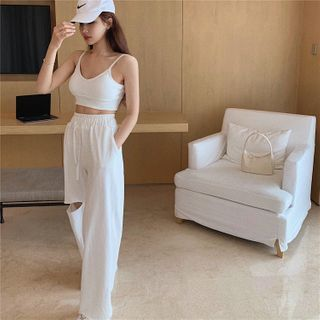 BBChic - Cropped Camisole Top / Sweatpants