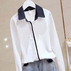 Donnae - Contrast Collar Shirt