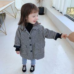 Ruban - Kids Houndstooth Woolen Coat