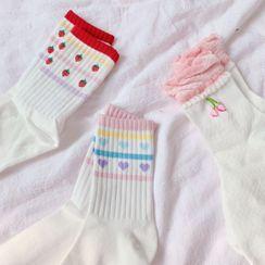 Hello minto - Printed Crew Socks