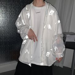 8th Sense - Butterfly Printed Light Jacket