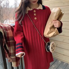OULIM - Polo Neck Sweater Dress