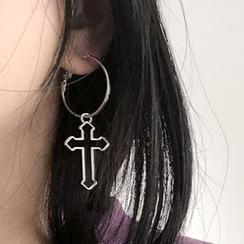 Kokyu - Cross Hoop Earring