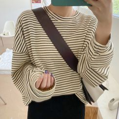Gilmort - 条纹宽松上衣 + 针织铅笔连衣裙