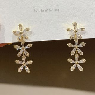Catalunya - Rhinestone Flower Dangle Earring