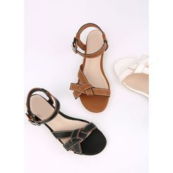Styleonme - Knotted Stitched Sandals