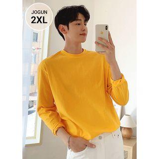 JOGUNSHOP - Crew-Neck Cotton T-Shirt in 10 colors