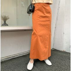 FROMBEGINNING - Colored H-Line Maxi Skirt