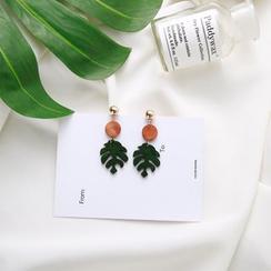 Kokyu - Monstera Leaf Wooden Earrings
