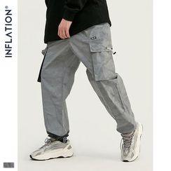 Newin - 暗迷彩立体口袋宽松运动裤