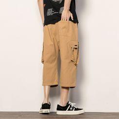 Bay Go Mall - Wide-Leg Cargo Pants