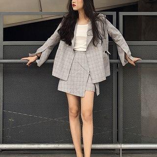 Alfie - Set: Plaid Jacket + Mini Skirt