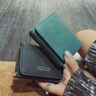 RAINBOWXX - Faux Leather Trifold Zipper Wallet