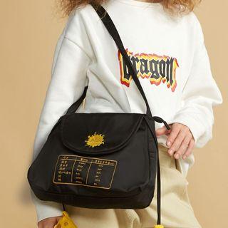 Nibby - Embroidered Nylon Shoulder Bag