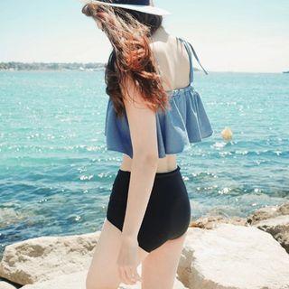Salanghae - 雙色調荷葉比基尼泳衣