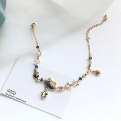 Teeny Trendy - Alloy Cat & Star Bracelet