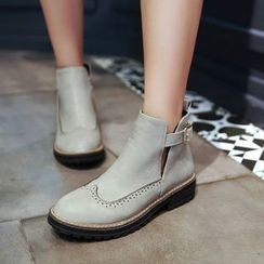 Shoes Galore - Wingtip Ankle Boots