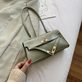 Diamante(ディアマンテ) - Plain Flap Shoulder Bag